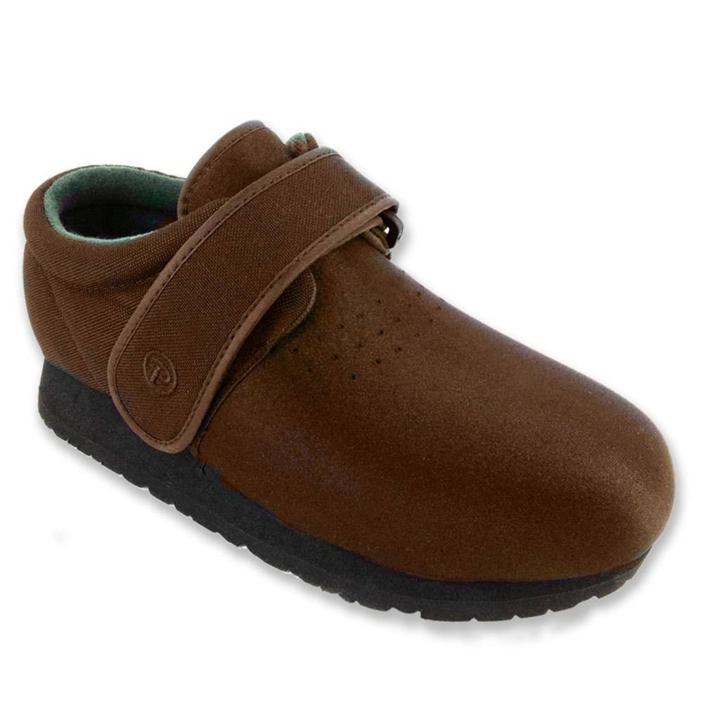 Pedors Brown Classic Shoes For Swollen Feet Edema Lymphedema