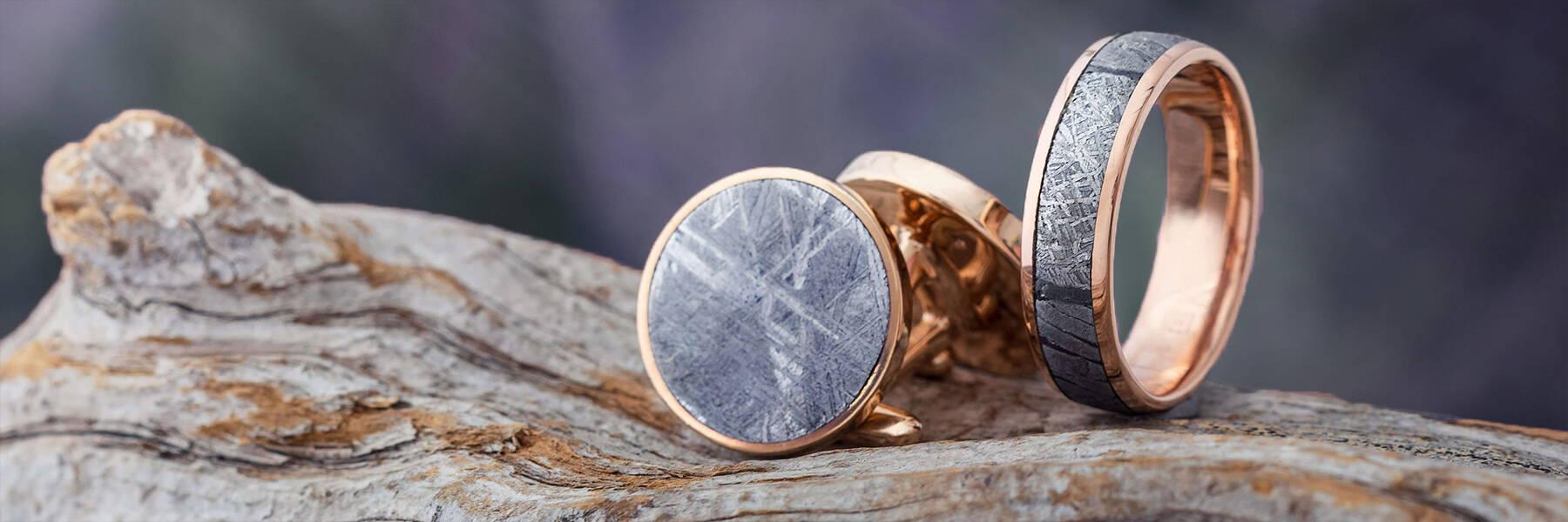 Rose Gold Meteorite Jewelry