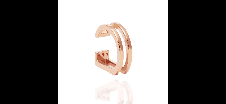 Wisbone Ear Cuff in Rose Gold