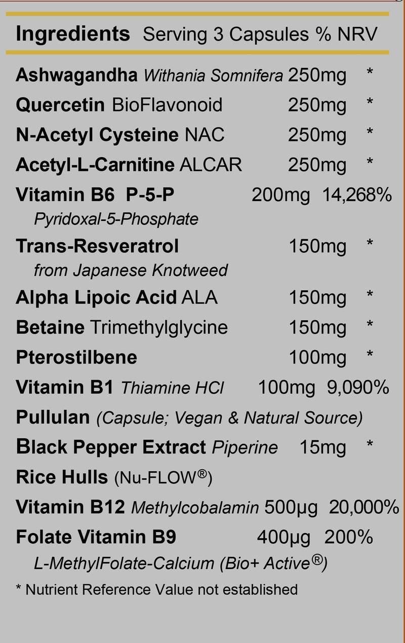 Energise 3 - Ingredients