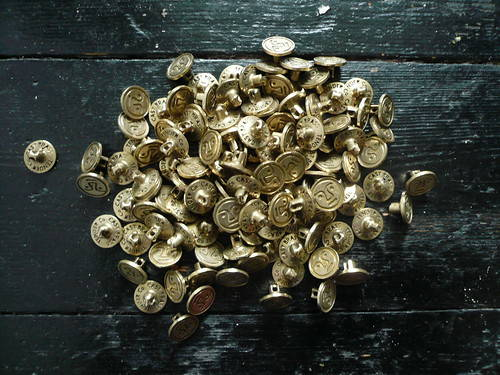 tender co belt brass buckle pieces polished