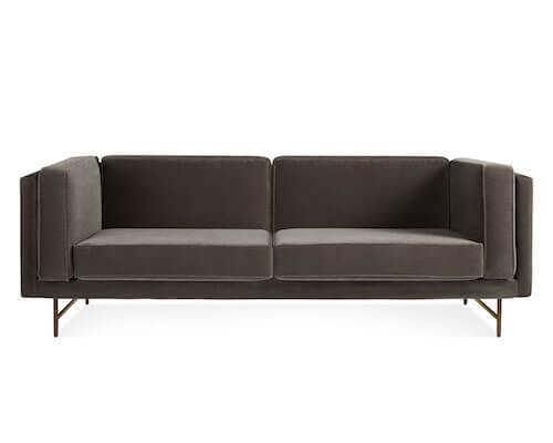 Blu Dot Bank Sofa in Mink Velvet