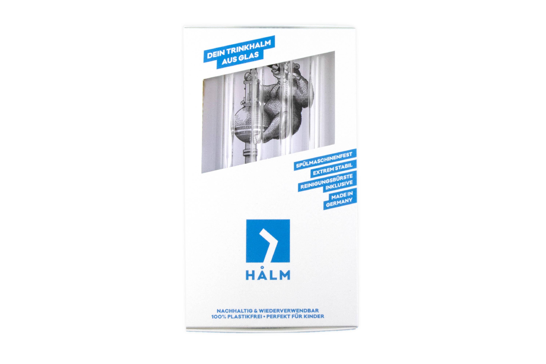 HALM Glasstrohhalm mit personlicher design white label