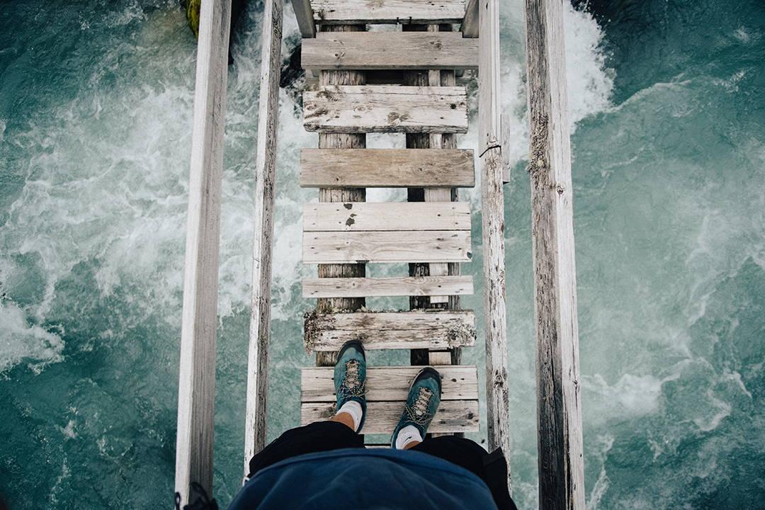 bravery, courage, VIRTU bravery, VIRTU bracelets, VIRTU blog, growvirtu, crossing a wooden bridge