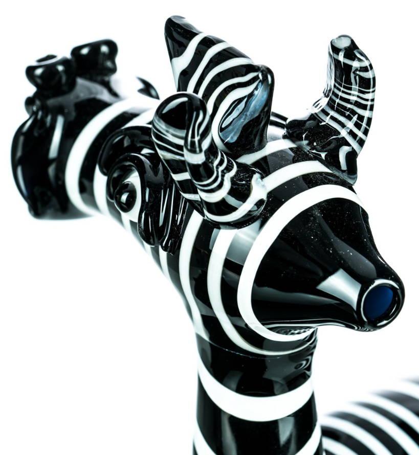 Boo Glass Zak the Zebra Bong Mouthpiece