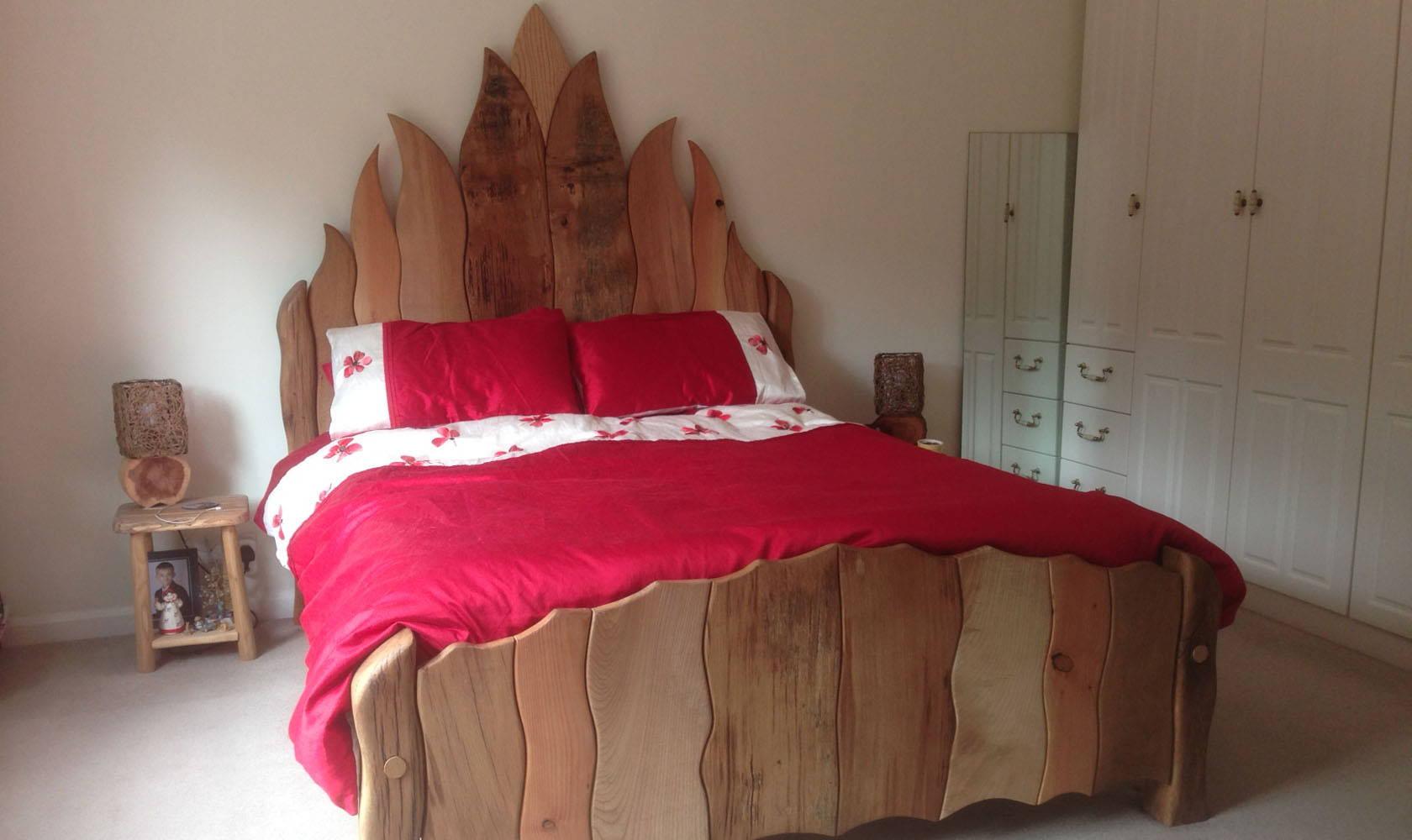 handmade curvy bed