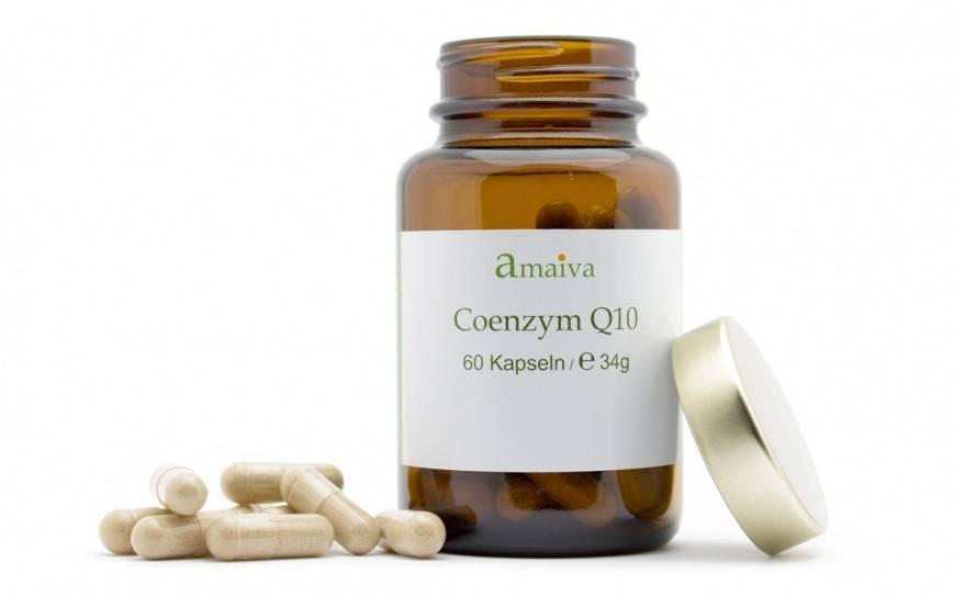 Coenzym Q10 Ubichinon Kapseln in Braunglasflasche