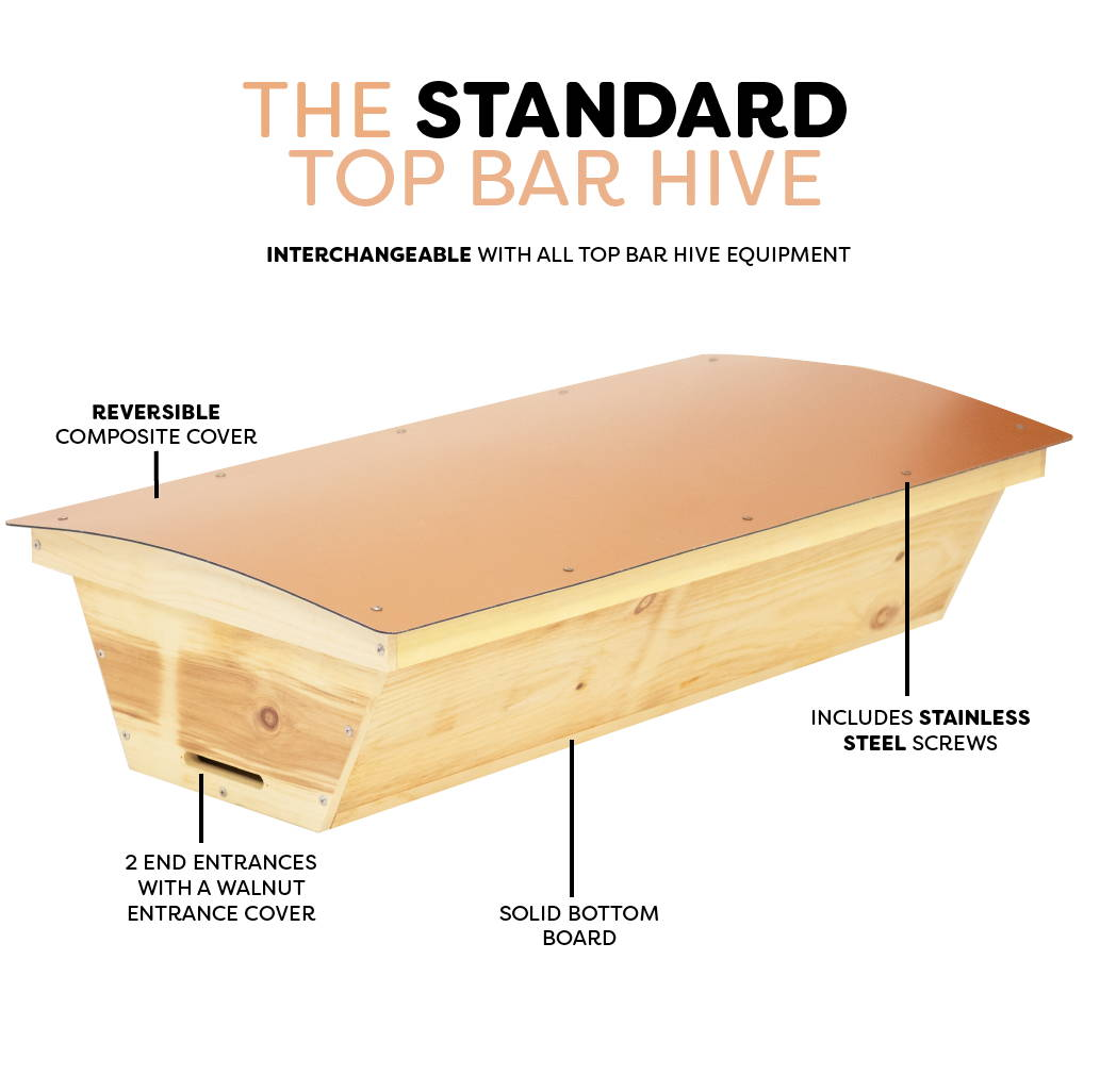 Product features of the standard top bar hive