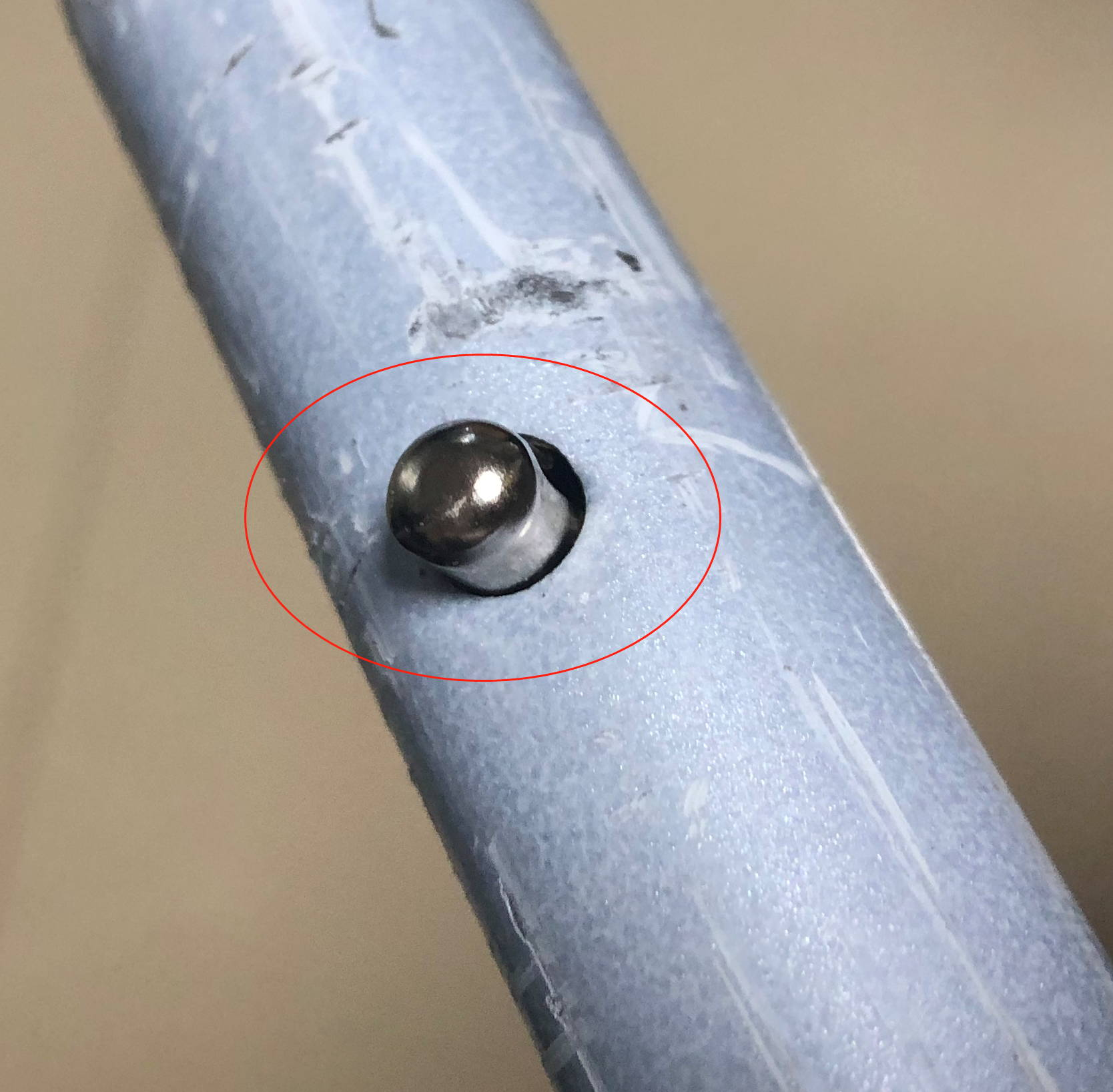 Fix button on trike