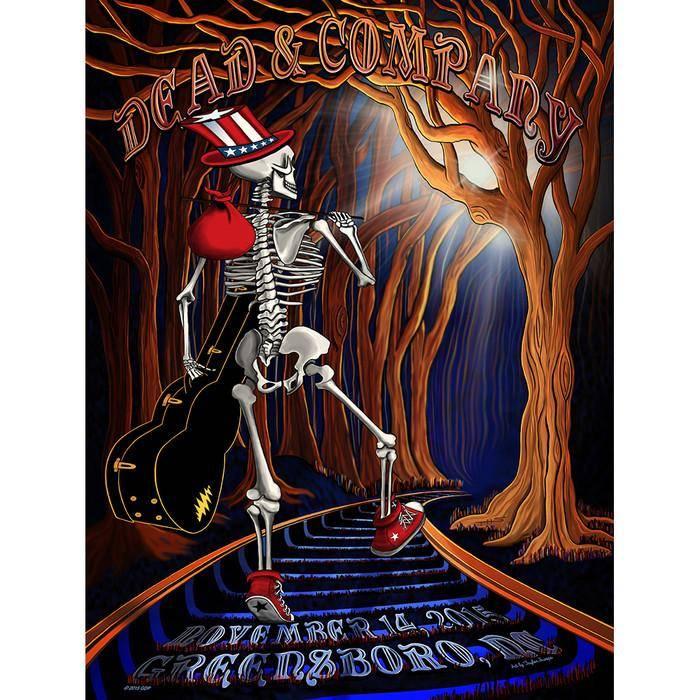 Taylor Swope's Dead & Company Greensboro poster