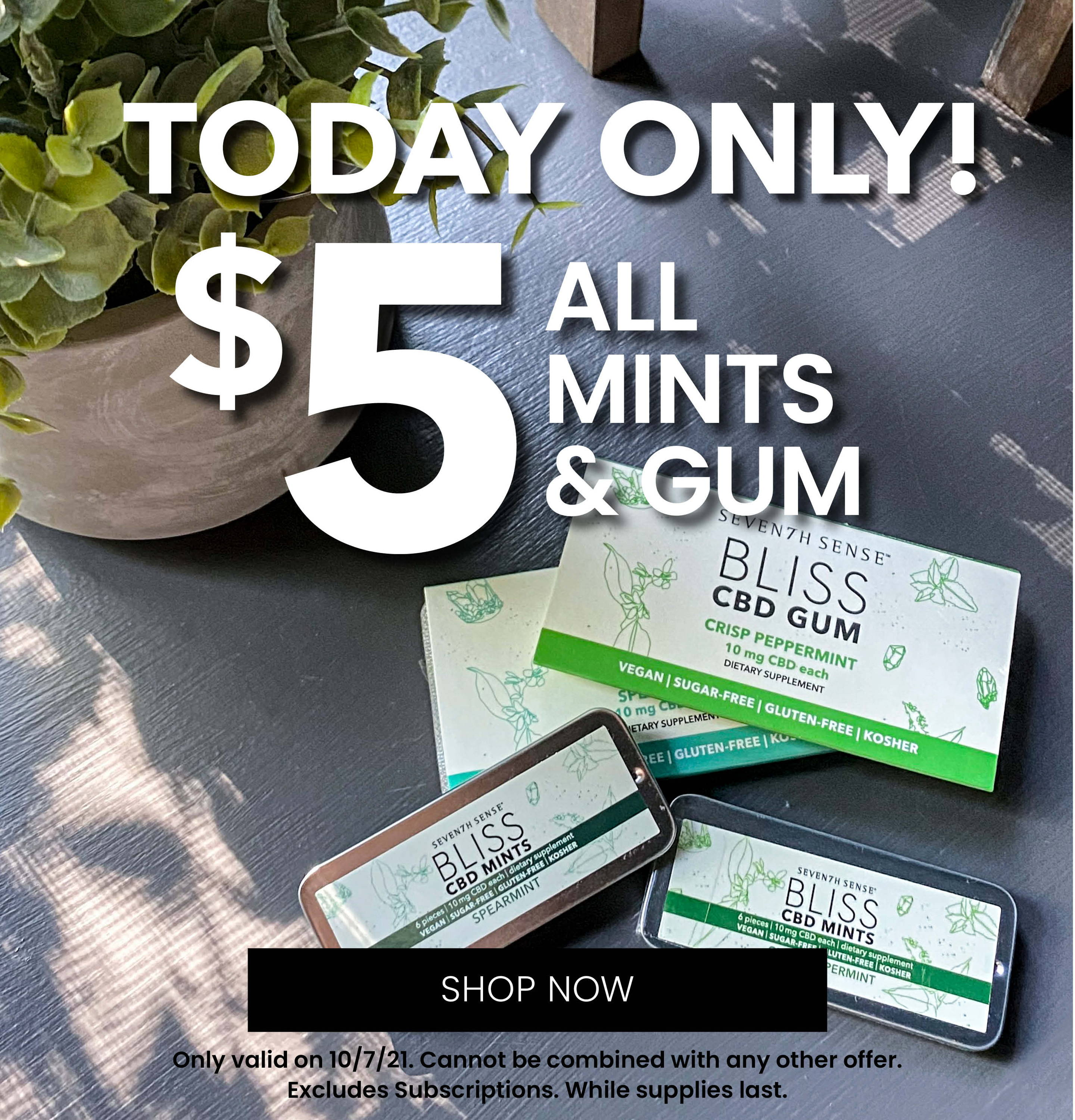 Today Only! 5 Dollar Gum and Mints