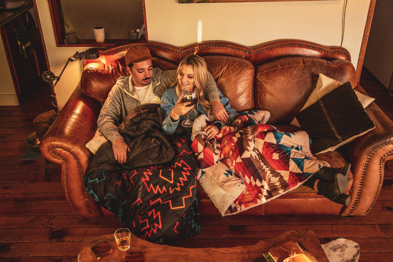 Rumpl x Iron & Resin Land & Sea Sherpa Blanket 50