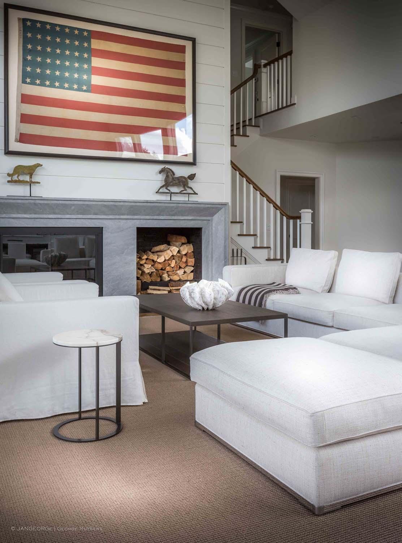 JANGEORGe Interiors & Furniture project in Sagaponack, NY, with B&B Italia and Maxalto furniture.