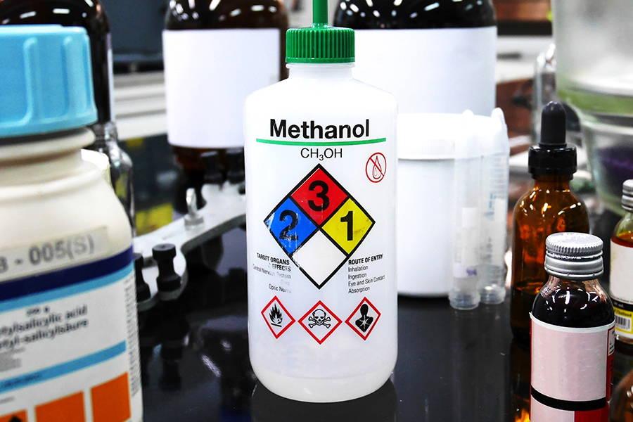 Bottle of Methanol