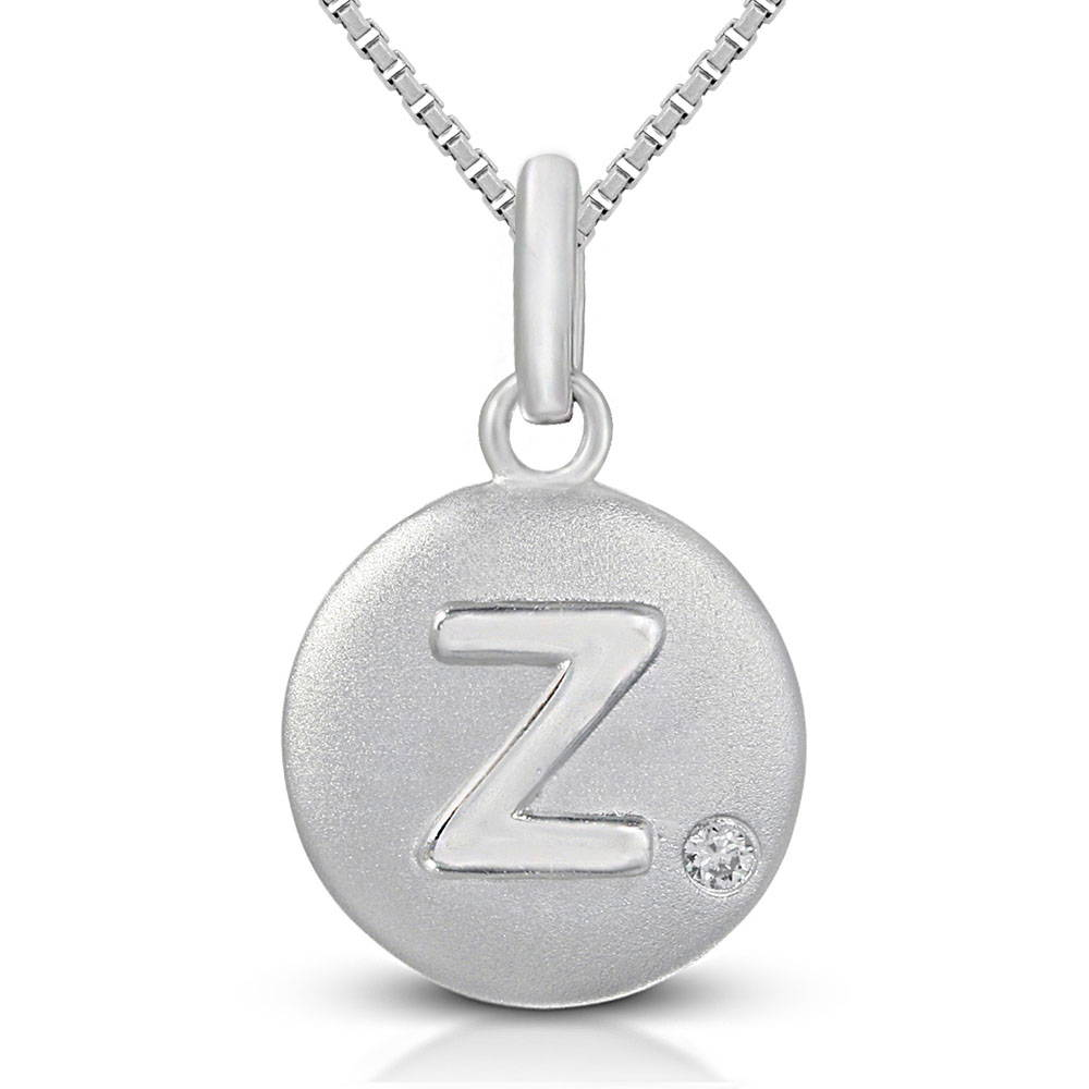 Pure at Birth letter Z pendant with greek box necklace