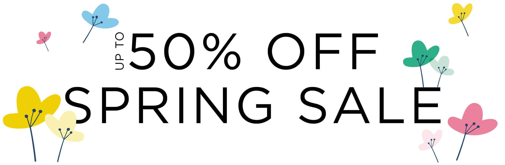up to 50% off spring sale