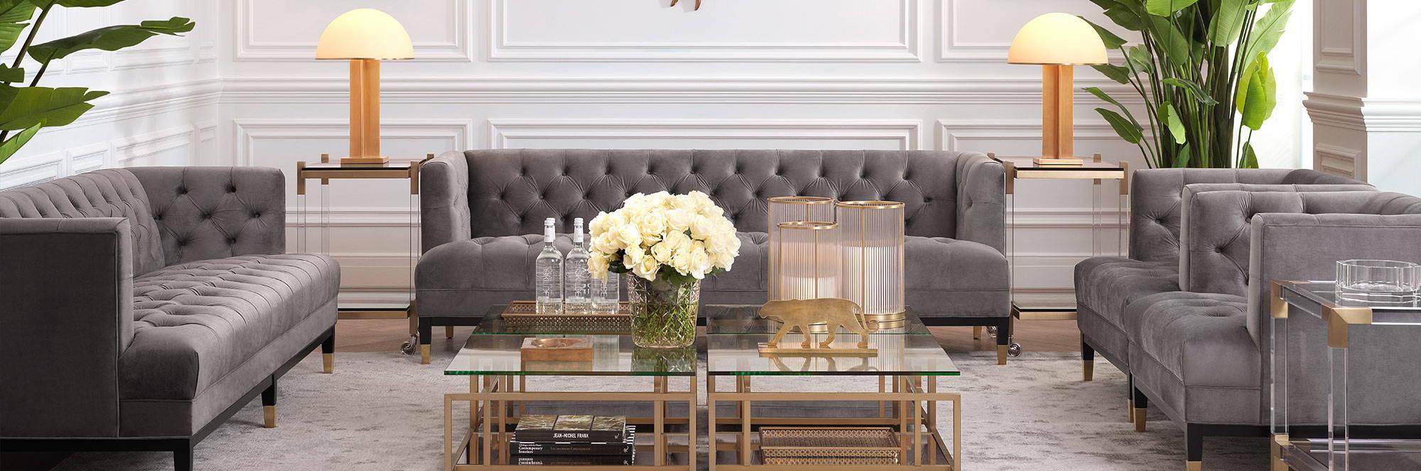 Eichholtz Furniture - Luxury Lounge Design - LuxDeco.com