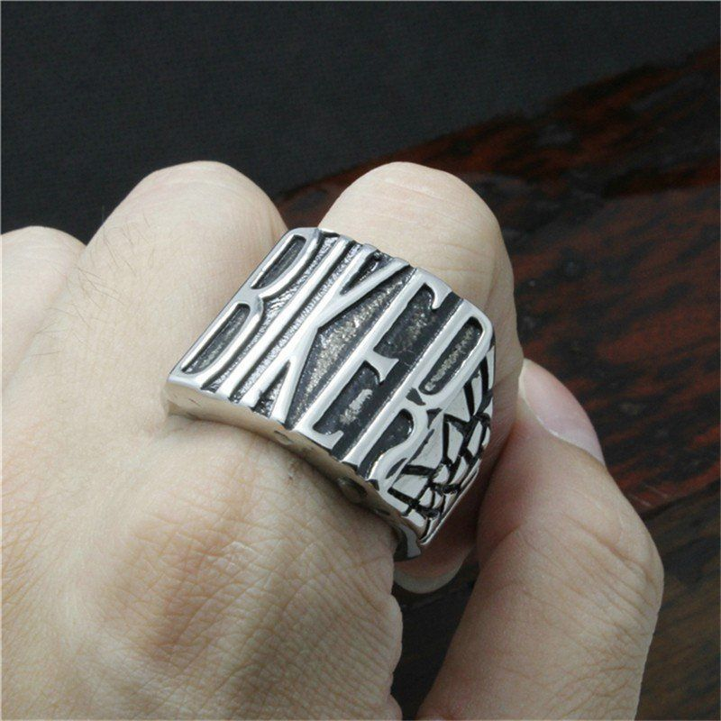 BIKER Stainless Steel Ring - That Ring Shop