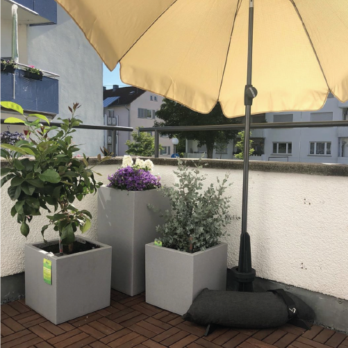 Parasol base for the balcony from Baser on beautiful balcony in Germany