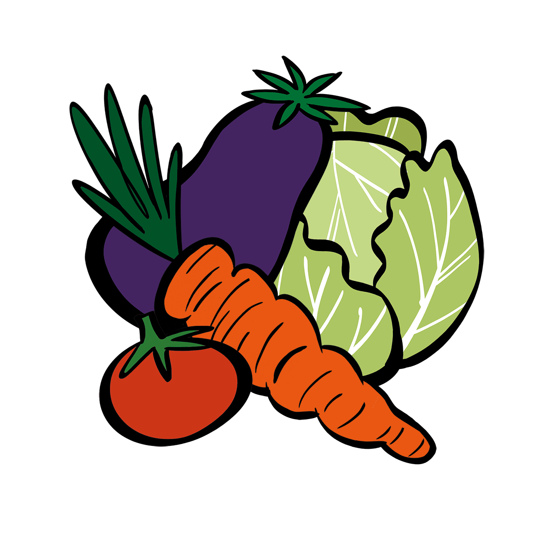 illustrated vegetables