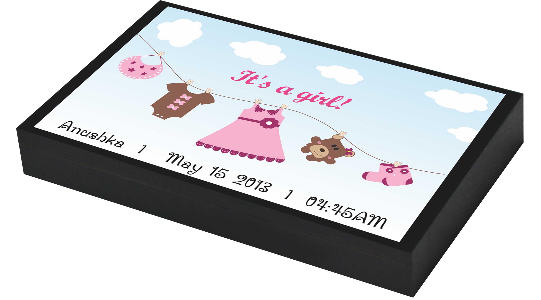Modern girl announcement gifts
