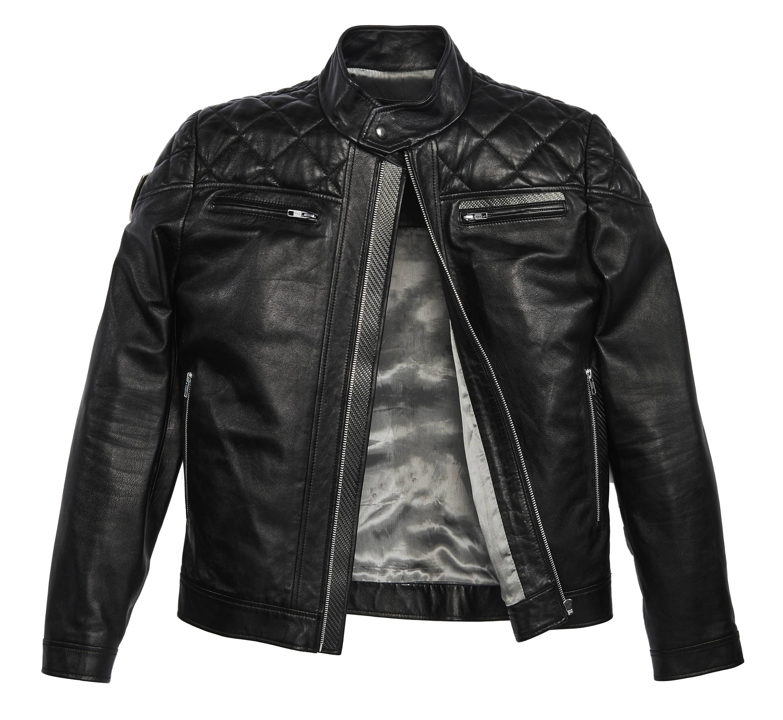 Carbonesque mens vinci leather jacket