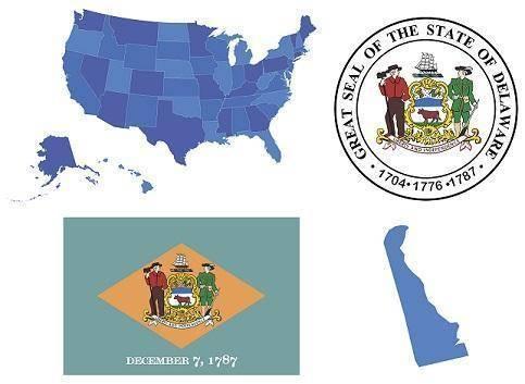 Delaware flag | delaware seal| image of state of delaware