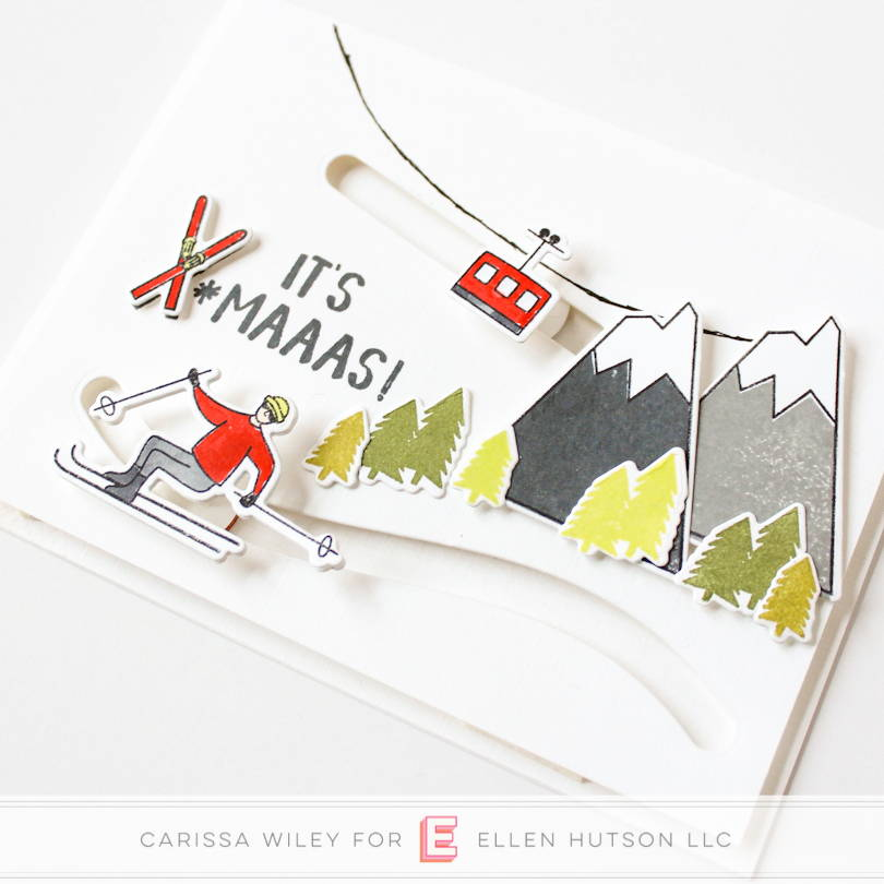Essentials by Ellen Mountain Holiday double slider card