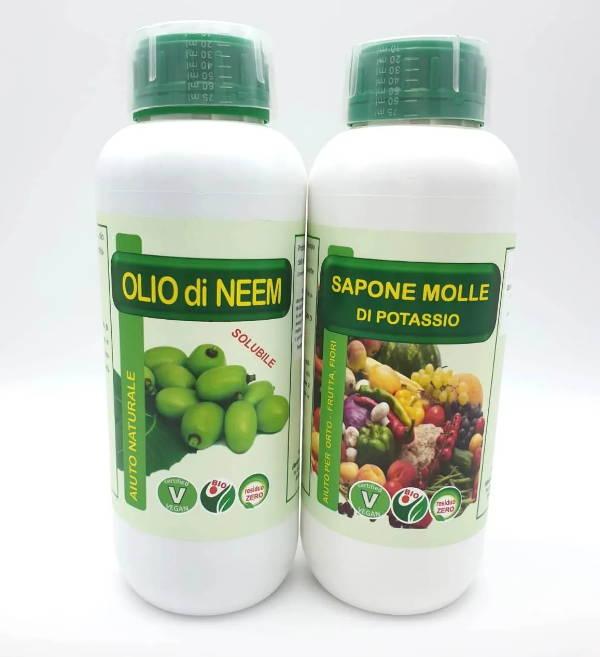 Olio di neem e sapone molle insetticida naturale