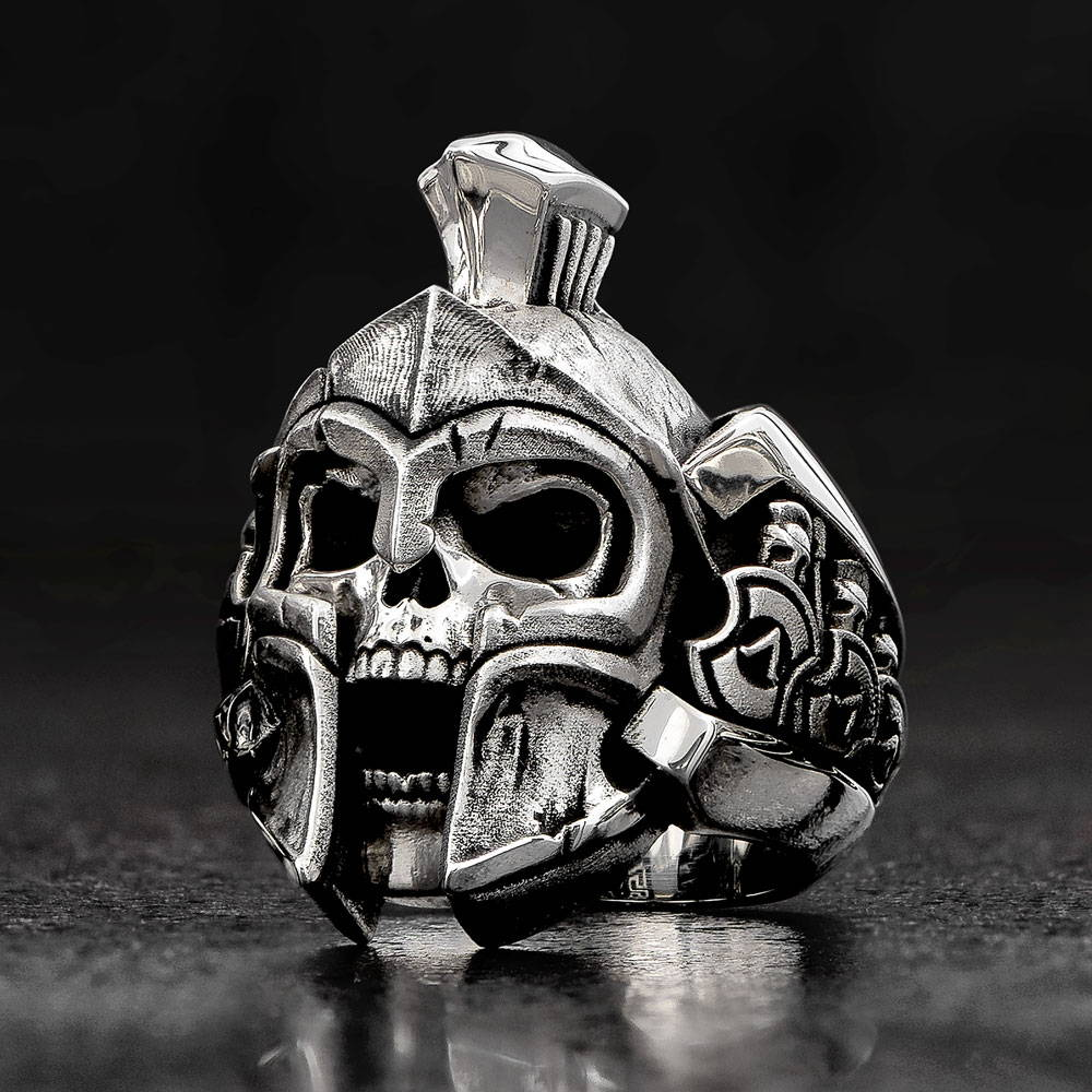 Thermopylae Spartan Skull Ring by NightRider Jewelry
