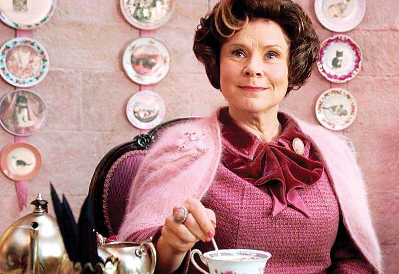 A still of Dolores Umbridge, a teacher from the film Harry Potter and the Order of the Phoenix