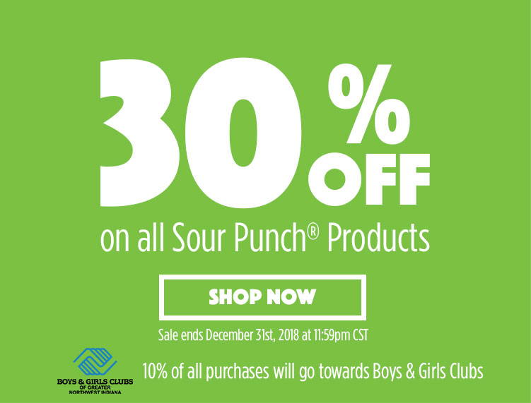 30% OFF ALL SOUR PUNCH THROUGH DEC 31