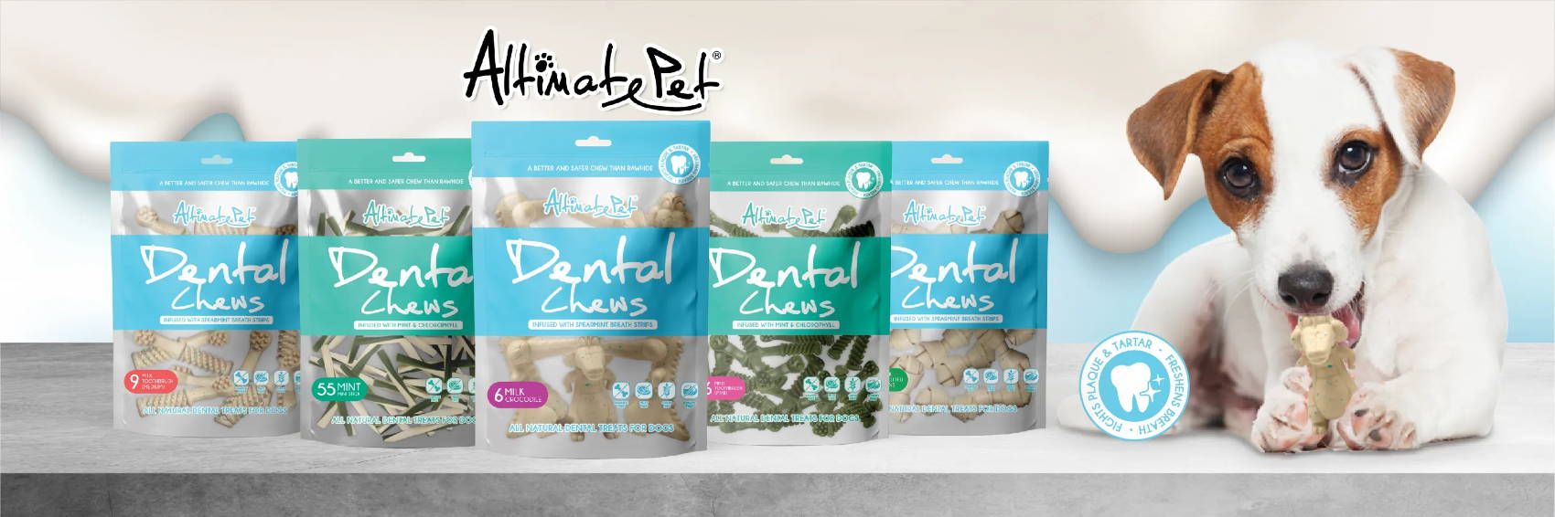 Altimate Pet dental chew banner