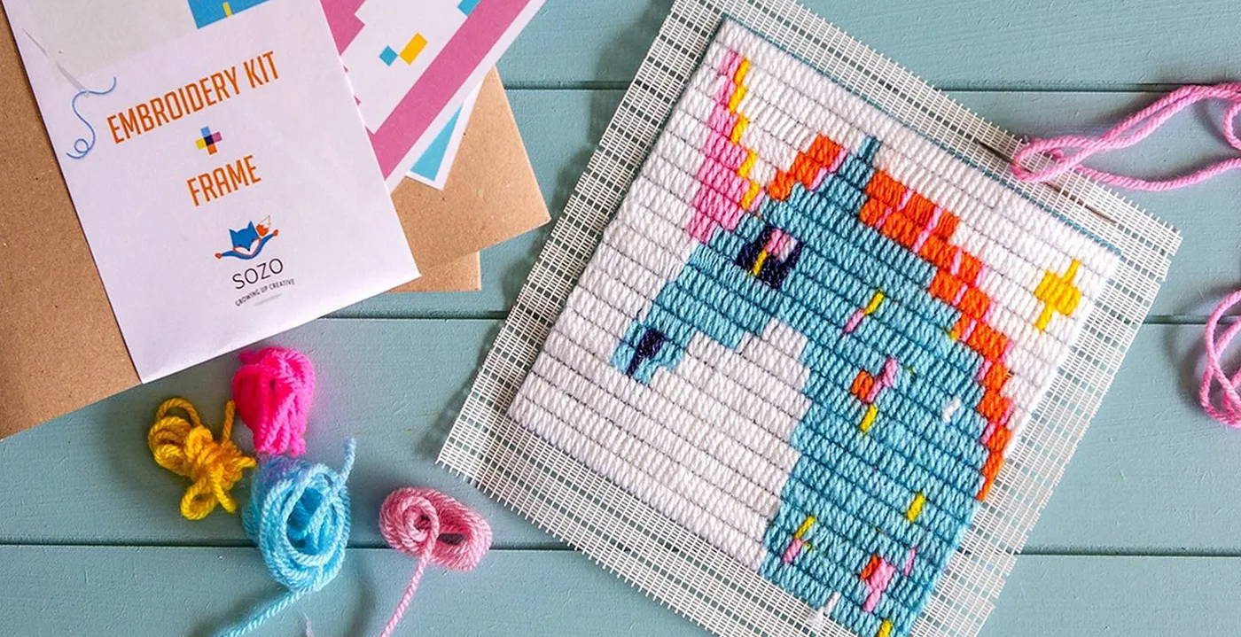 Sozo Unicorn Embroidery Kit