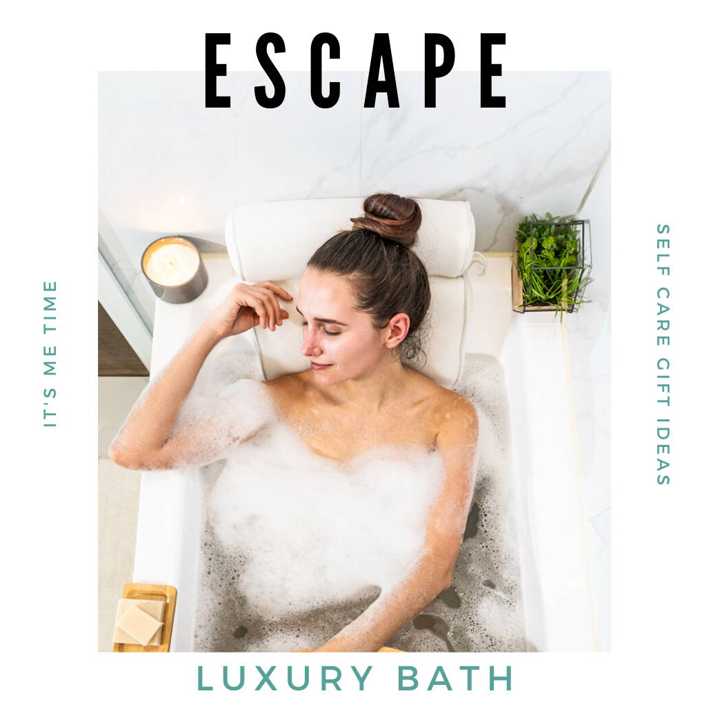 Bathtub Accessories for a Relaxing and Luxurious Bath Experience and Home Spa Day. Self-Care Ideas for Women.
