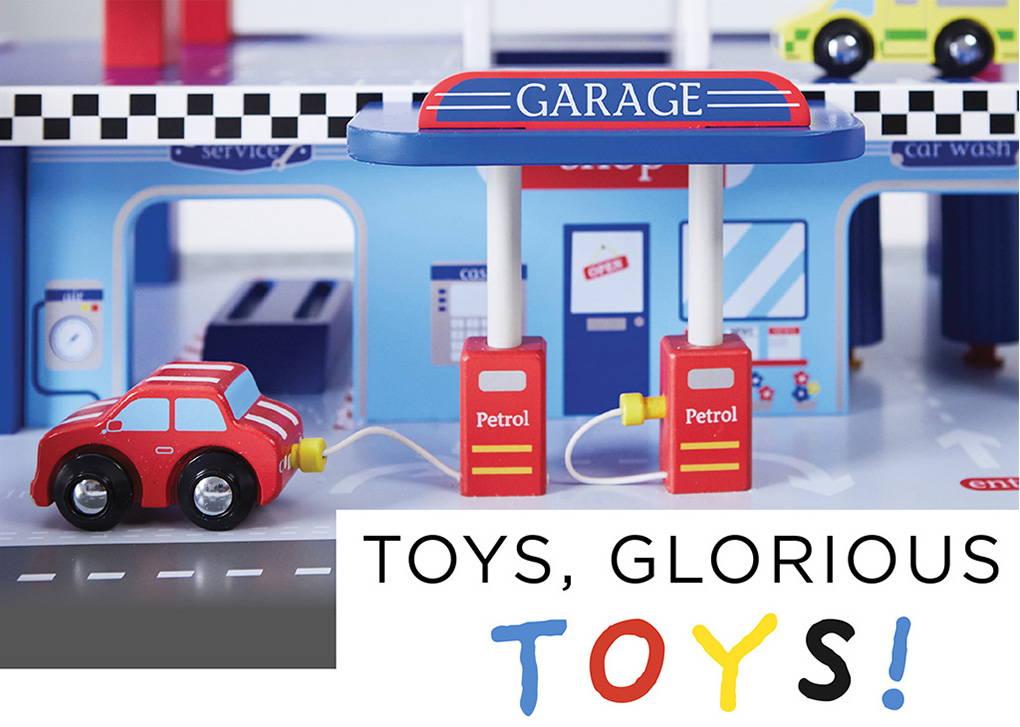 wooden toy garage for kids