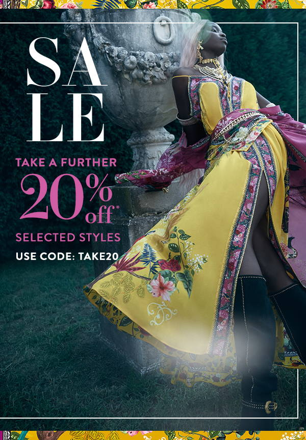 SALE: Take a further 20% off selected styles, use code: TAKE20