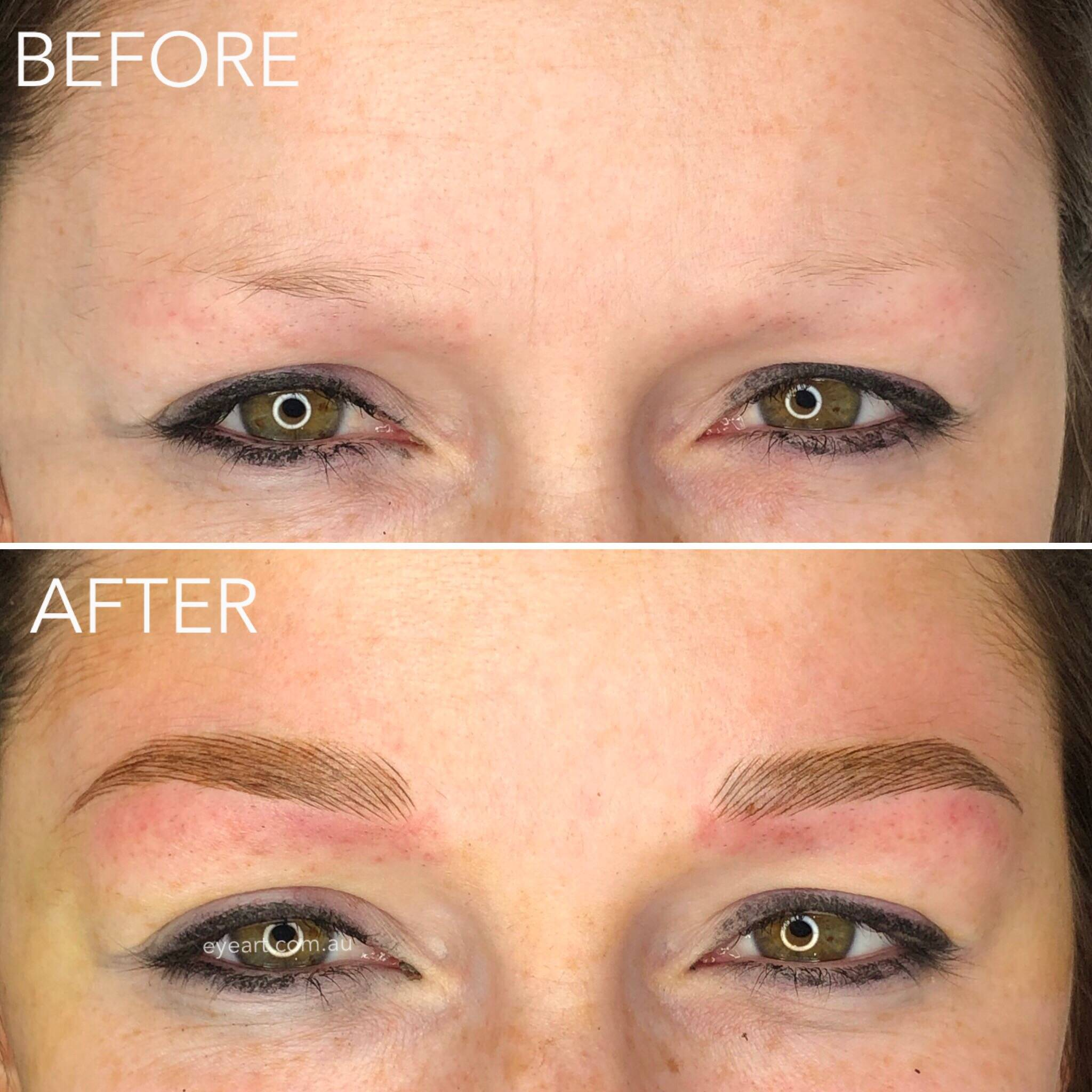 Eyebrow Feathering Tattoo Melbourne