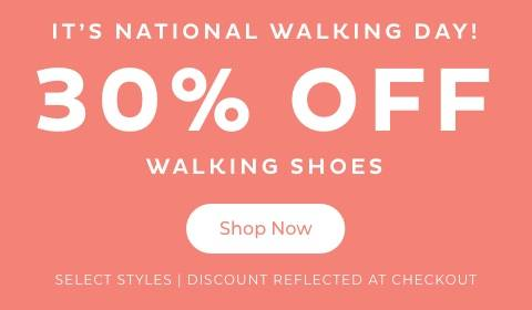30% Off Walking Shoes