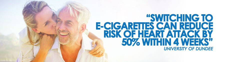 Laut einer Studie der University of Dundee kann die Umstellung auf E-Zigaretten das Risiko eines Herzinfarkts innerhalb von 50 Wochen um 4% senken