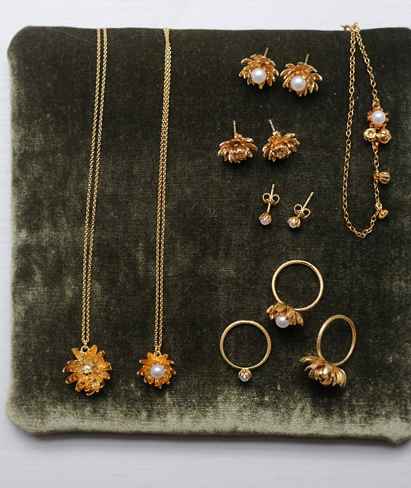 The Chrysanthemum collection from Alex Monroe