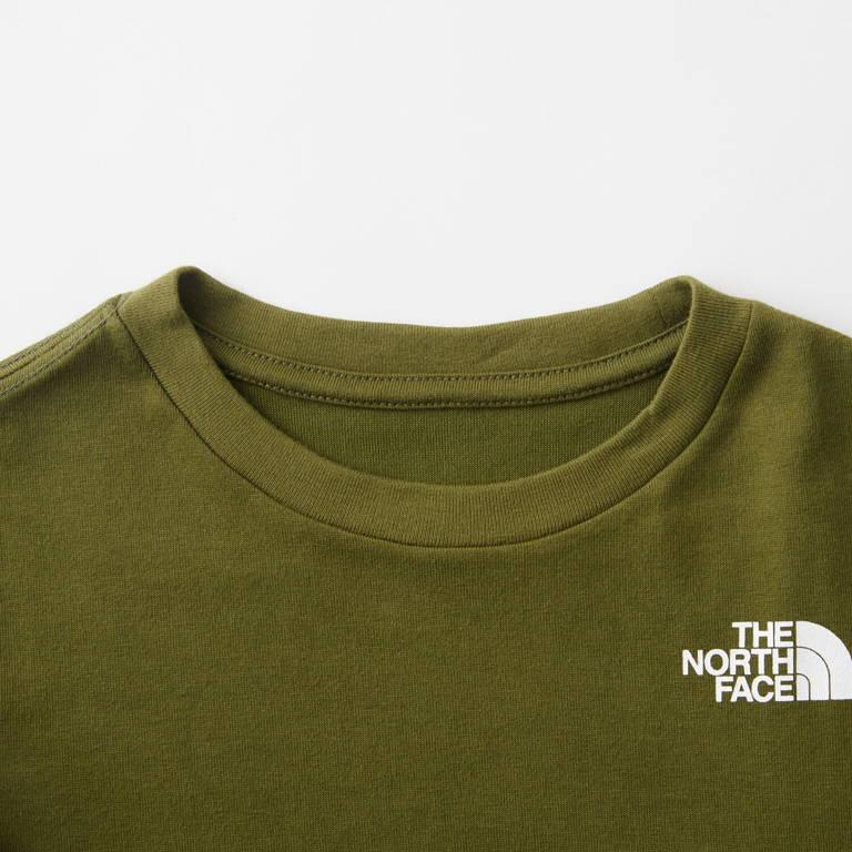 THE NORTH FACE(ザ・ノース・フェイス)/ロングスリーブスクエアロゴティー/カーキ/KIDS
