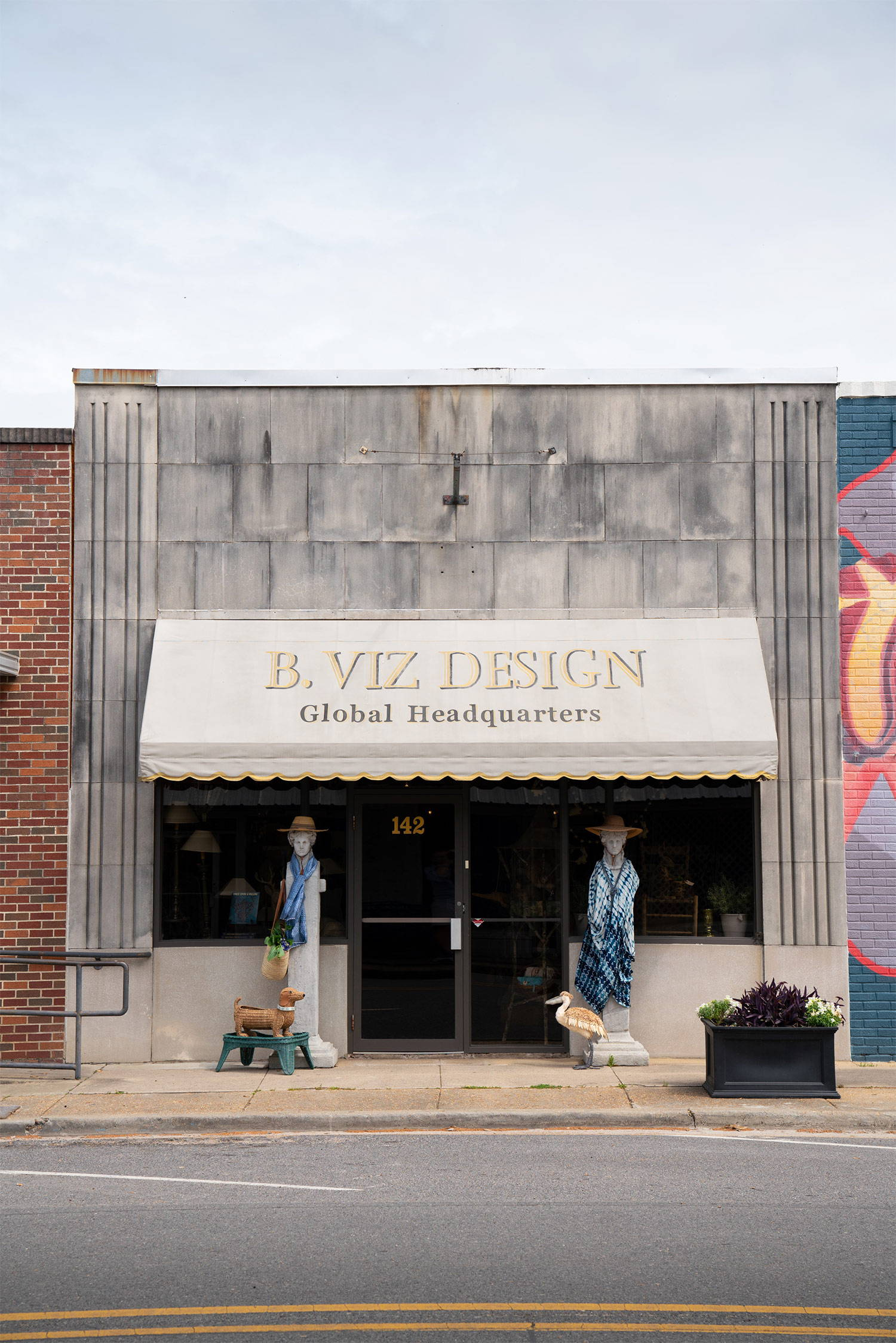 Exterior of B. Viz Design Global Headquarters near Lake Bruin in downtown St. Joseph, LA. The historic, no-stoplight town is buzzing with charm and natural beauty.