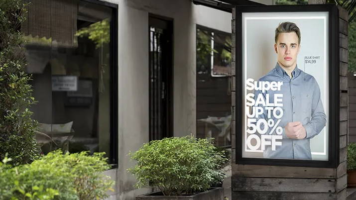 Best Outdoor Retail Digital Signage - The TV Shield PRO