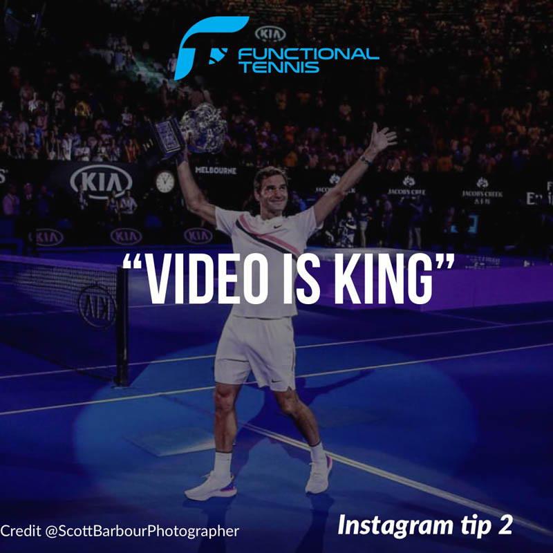 Functional Tennis Instagram tip - Video is King