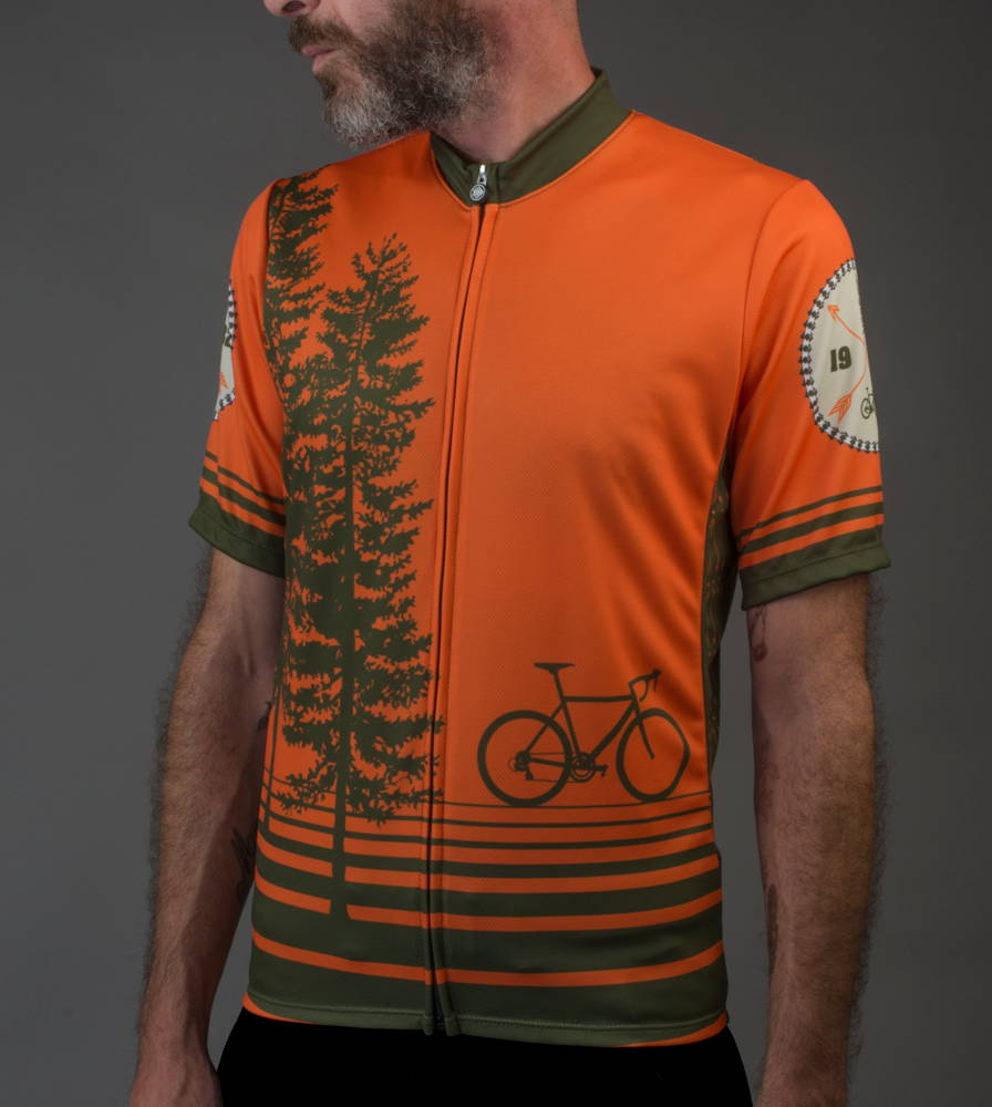 Tree Adventure cycling jersey model