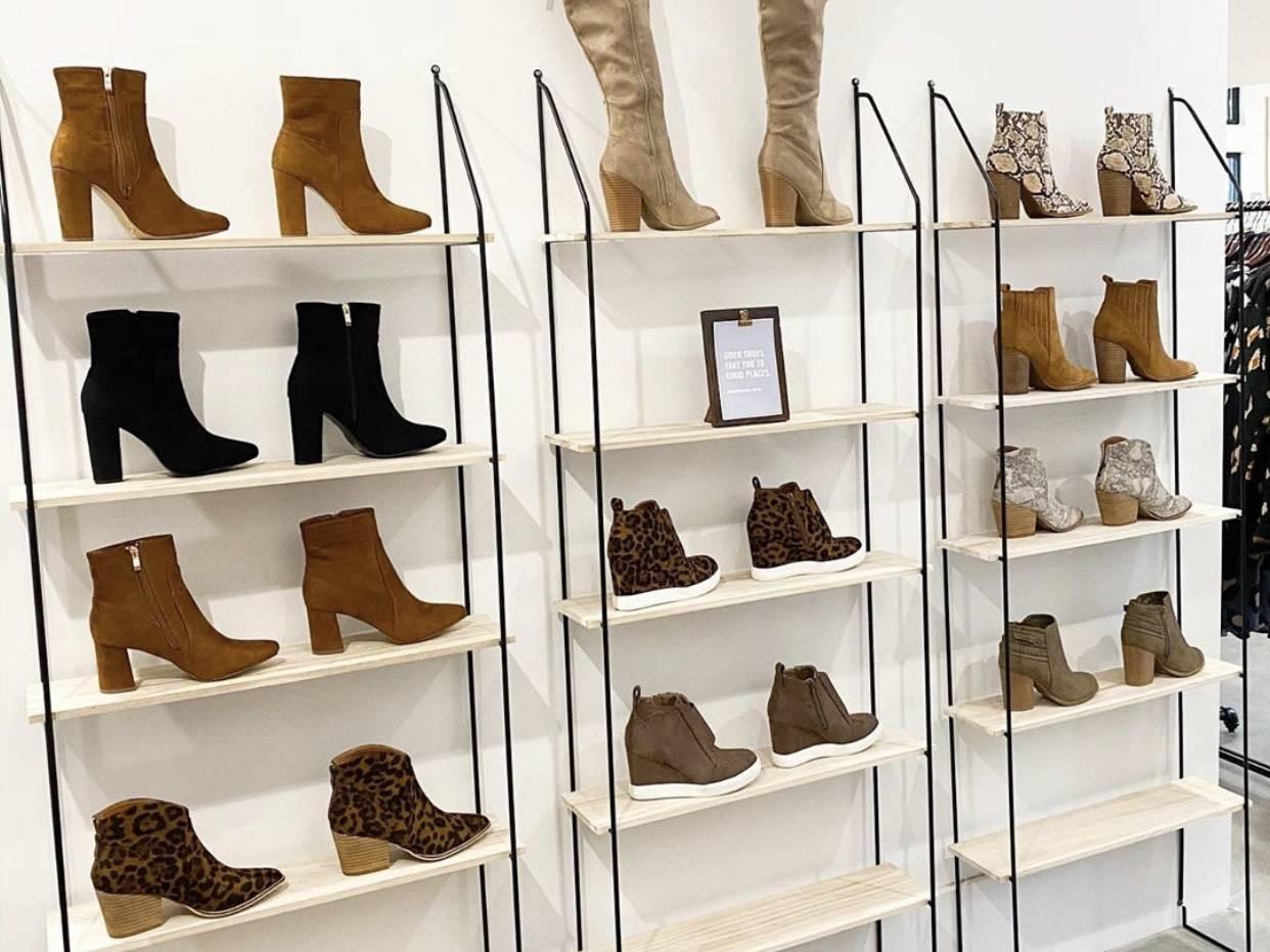 Trendy shoes at Dress Up in Alpharetta City Center