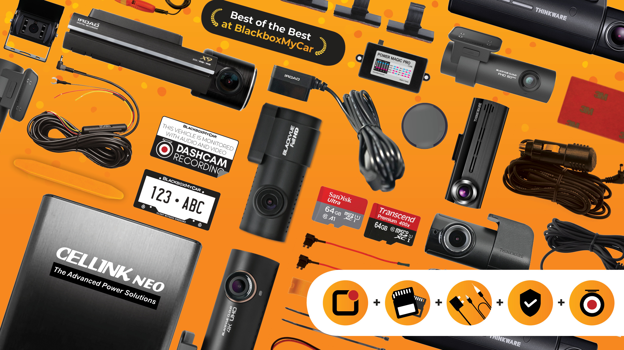 Our Full Range of Dash Cams from BlackboxMyCar