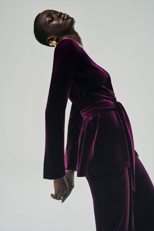 Galvan London Velvet Purple Suit