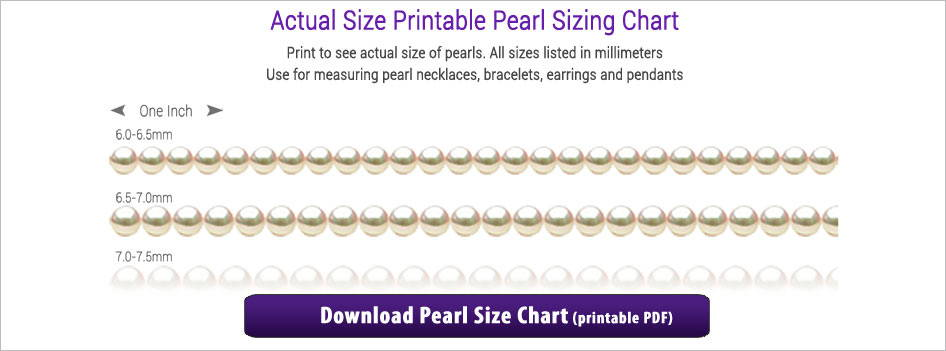 Actual Size Printable Pearl Sizing Chart